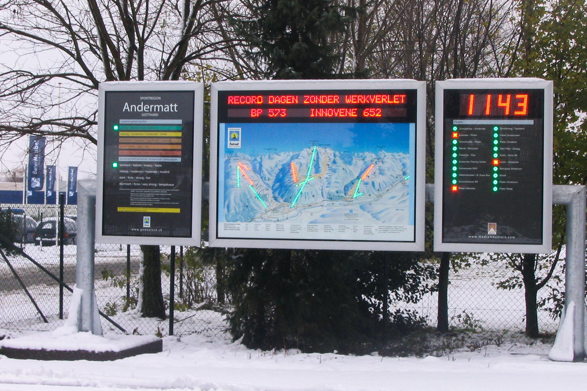 Ski-info display