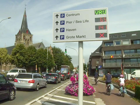 Dynamic parking guidance in Blankenberge