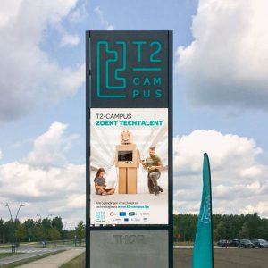 T2-campus grafisch outdoor LED-totem