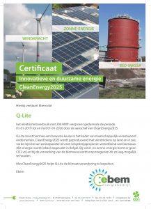 Certificaat groene energie