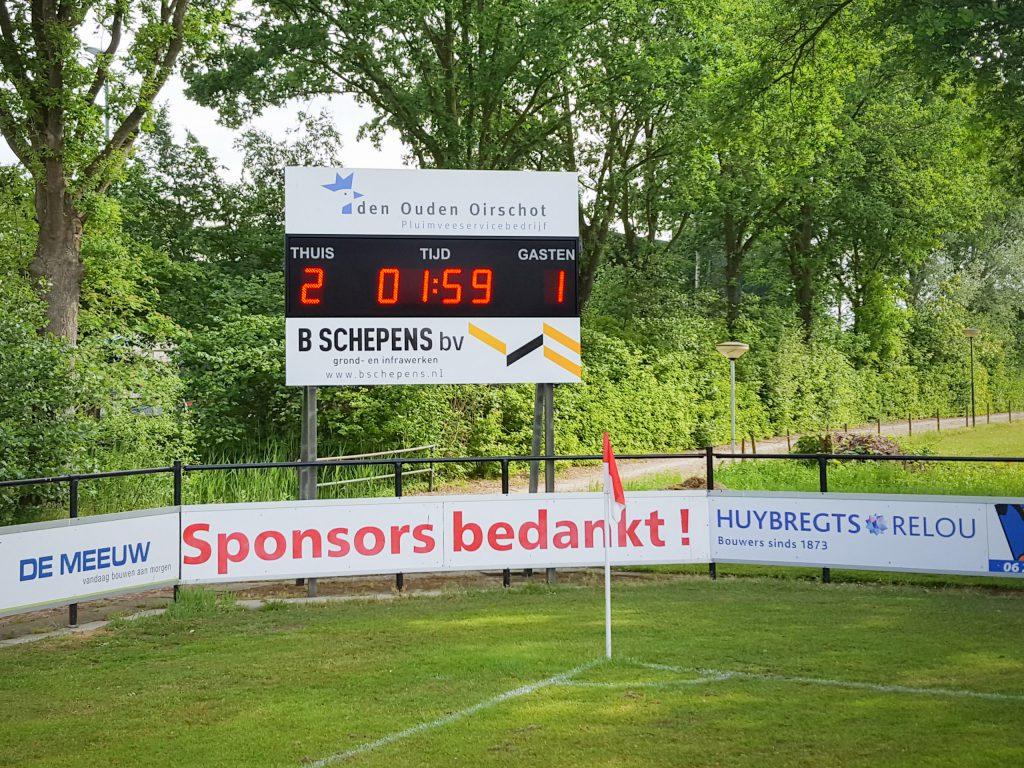 LED-scorebord voetbal Spoordonk