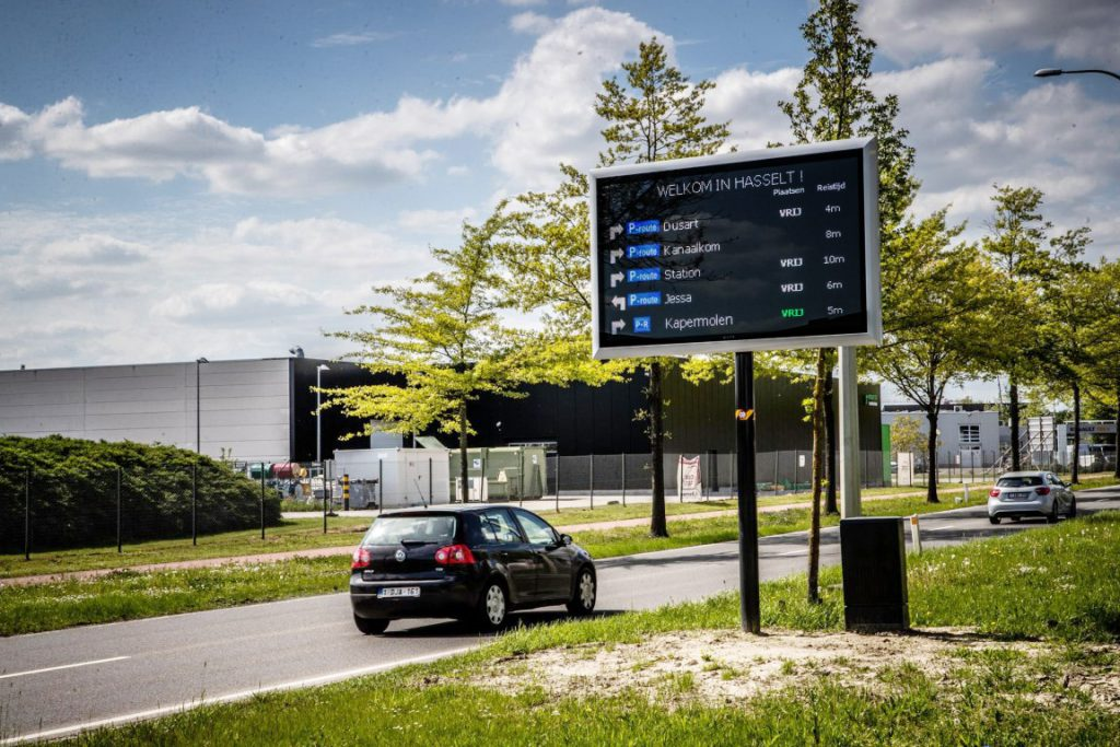 Parkeergeleiding Hasselt LED-display