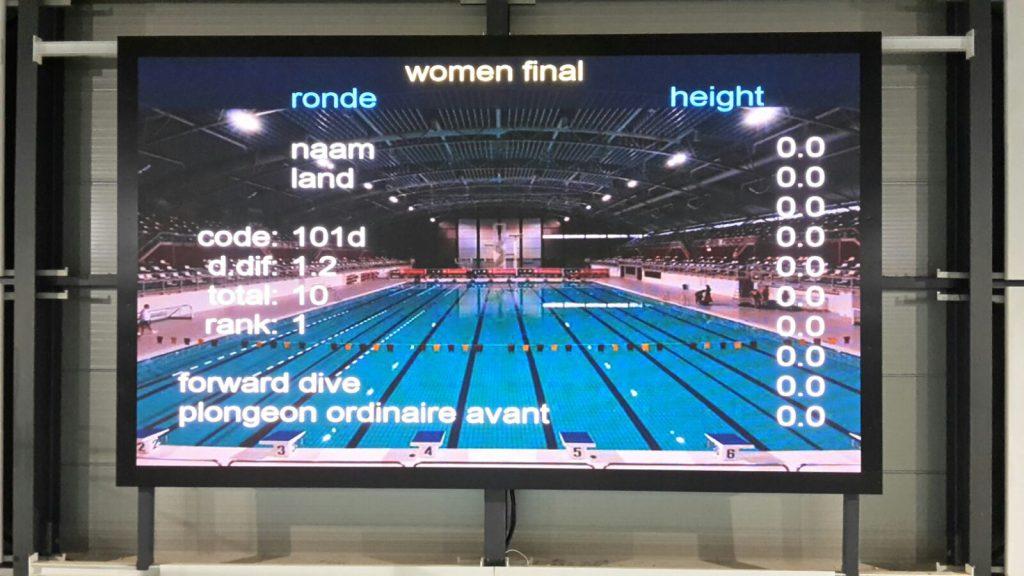 Nationaal Zwemcentrum de Tongelreep LED-scherm