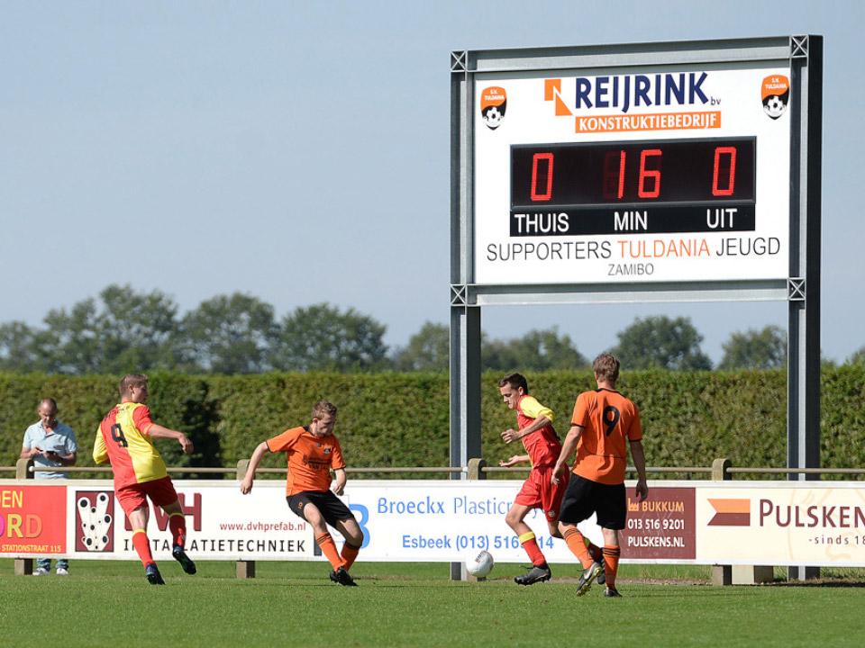 LED-scorebord voetbal Sportvereniging Tuldania Esbeek