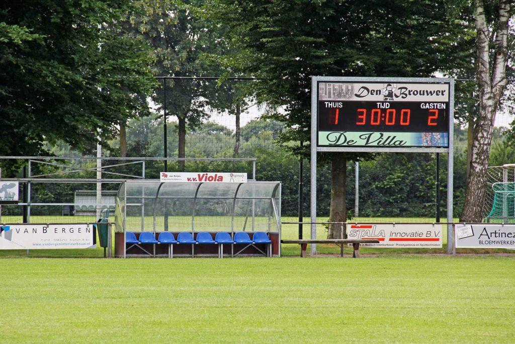 LED-scorebord voetbal VV Viola Alphen
