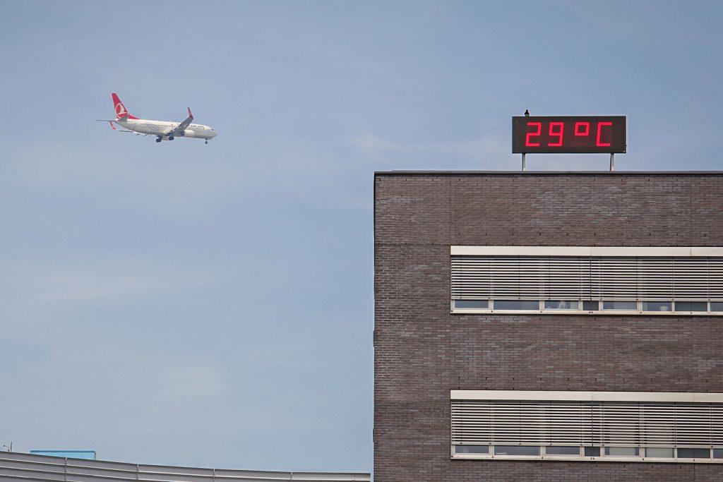 Royal FloraHolland Aalsmeer tijd- en temperatuurdisplays