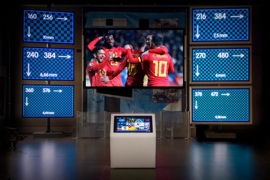 Visual Experience Center voetbal pixel pitch