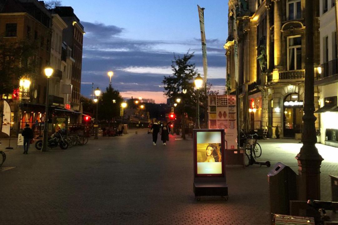 Digitaal Stoepbord Suikerrui Antwerpen