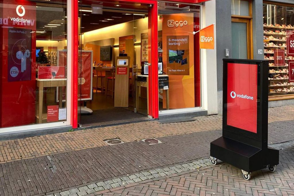 Vodafone digitaal stoepbord