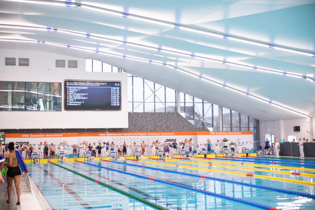 Ledyears Amerena scorebord zwembad waterpolo