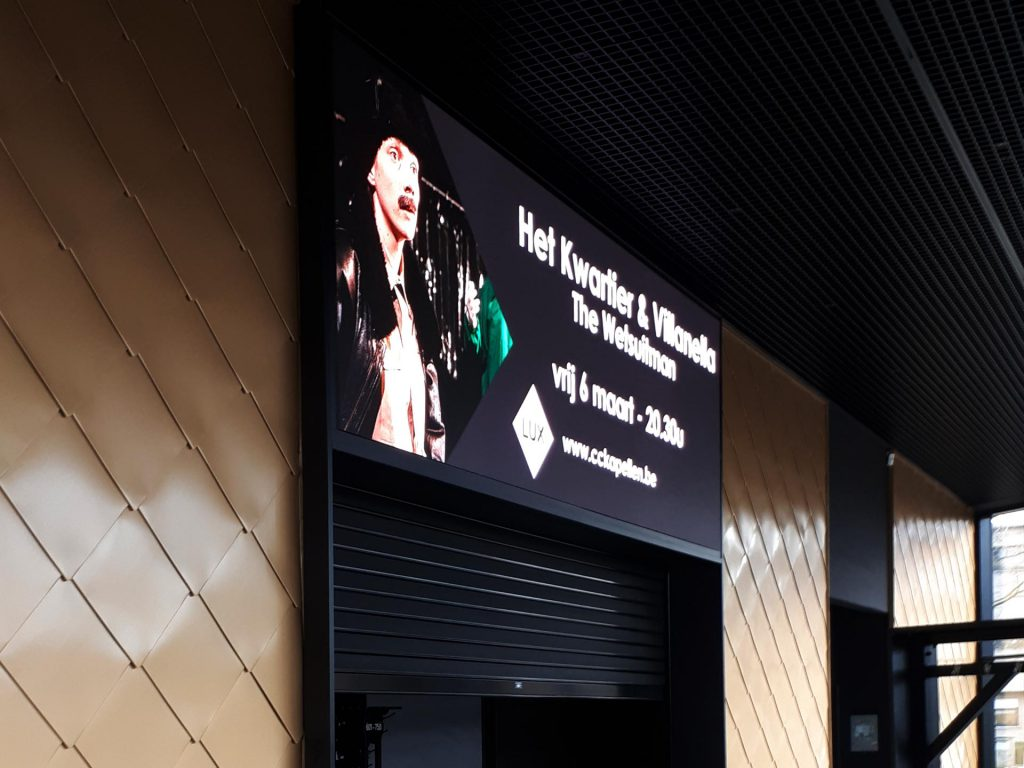 LUX zaal Gemeente Kapellen outdoor LED-display
