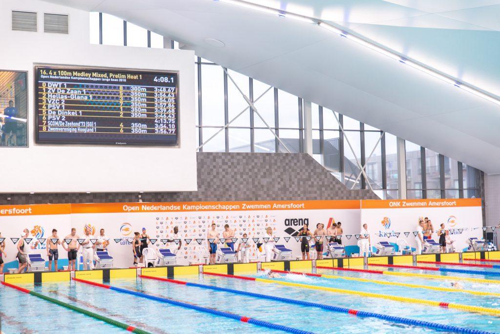 Tijdsregistratiesysteem scorebord Amerena zwembad