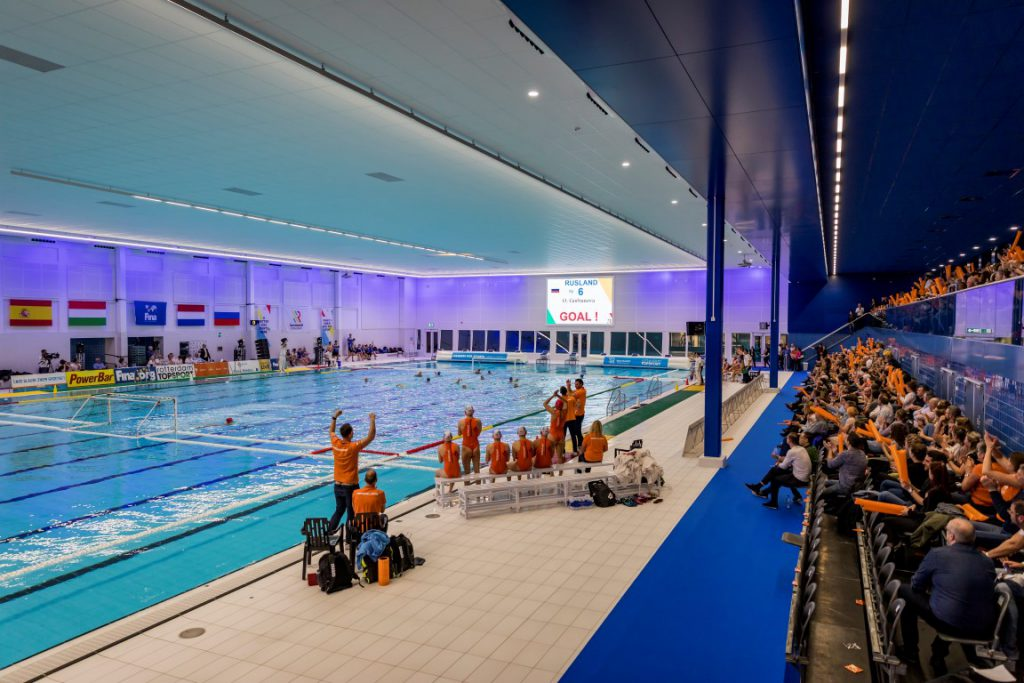 Zwemcentrum Rotterdam Multifunctioneel scorebordsysteem