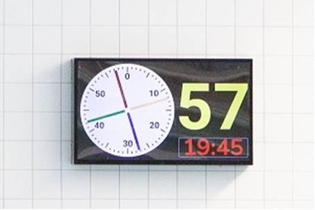 Schotklok LCD-scherm