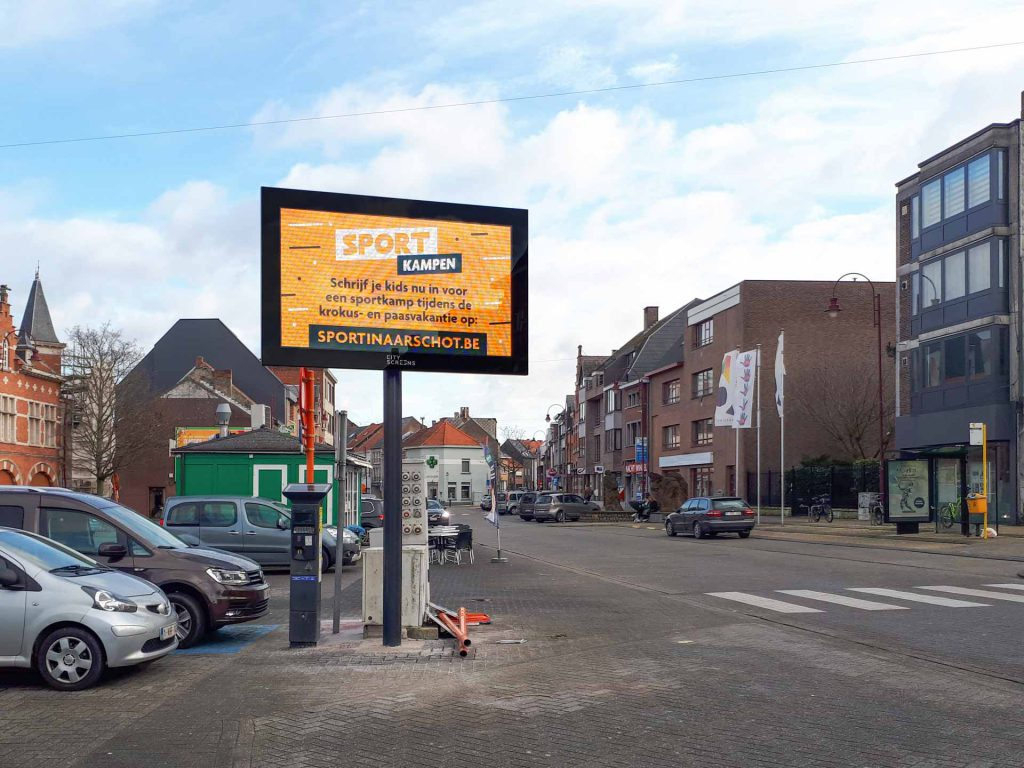 Stad Aarschot Q-LED TV buiten LED-display