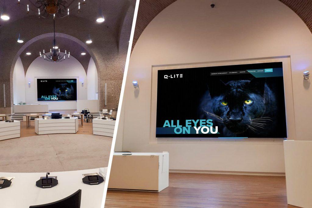 Indoor LED-display totem voor binnen