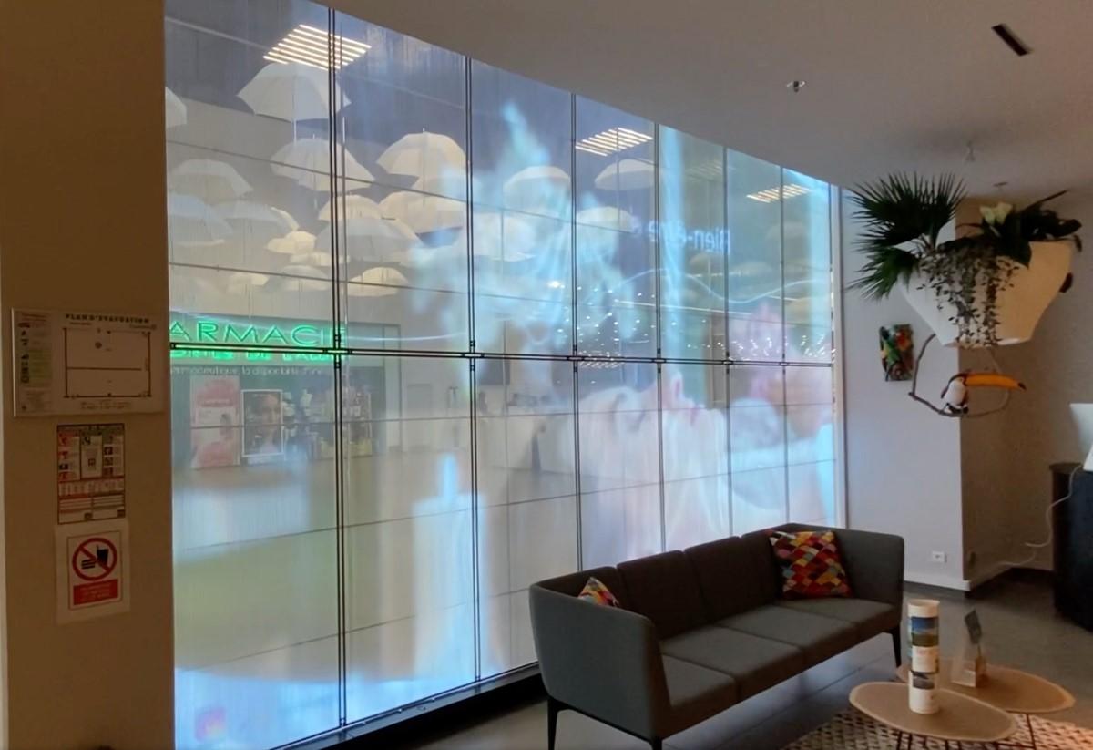 Transparant LED-scherm