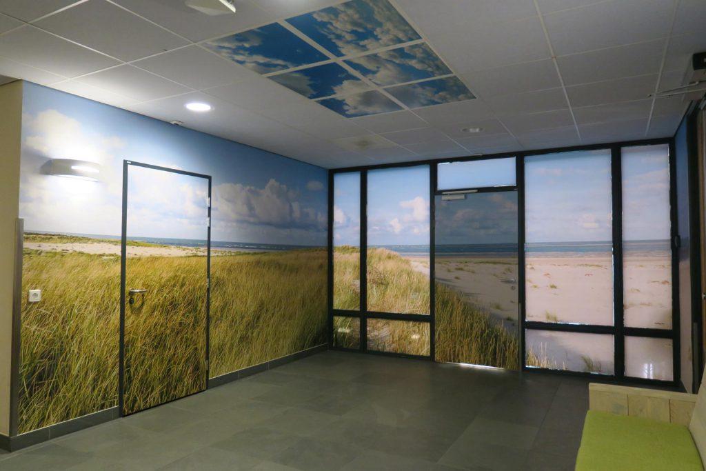 Kantoor visual muren fotobehang