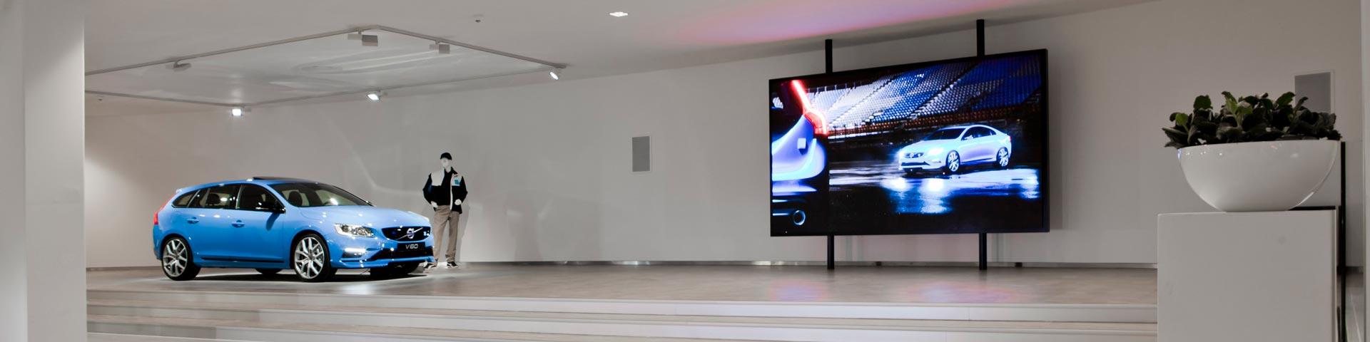 Volvo Bees indoor LED-display