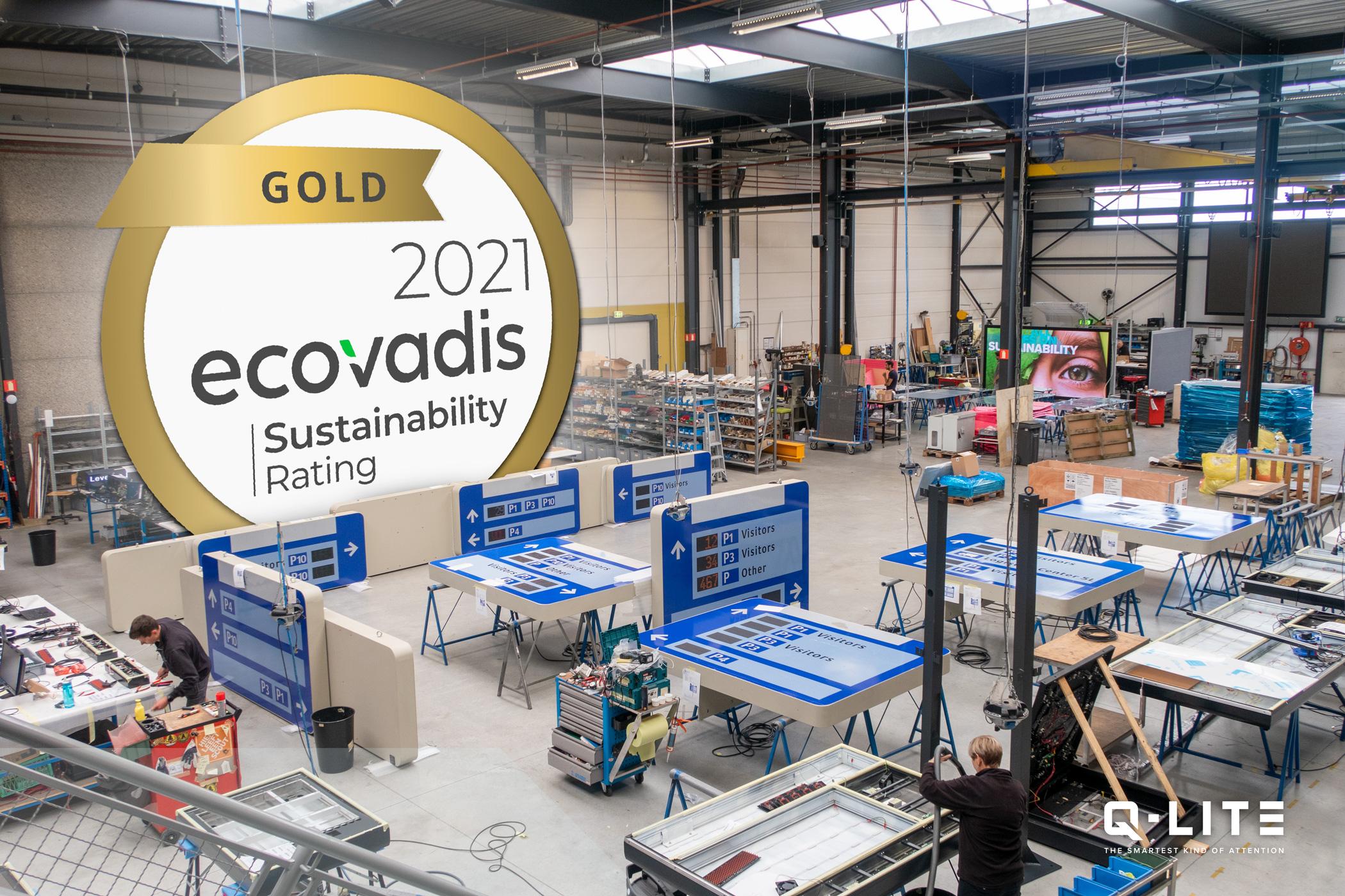Ecovadis gold rating voor Q-lite