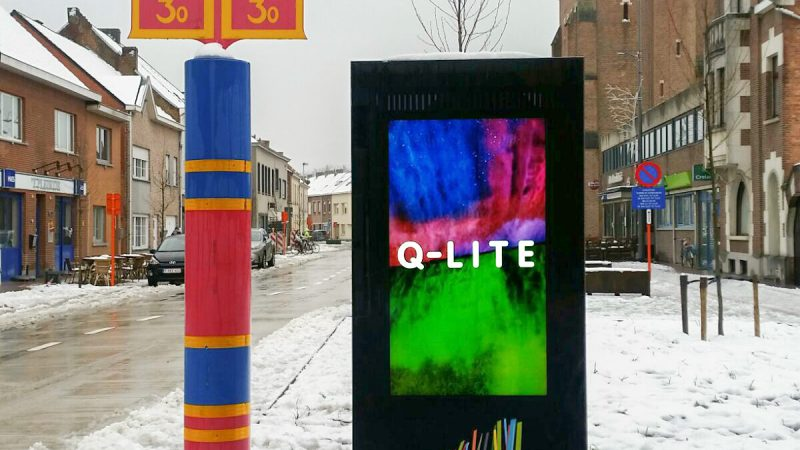 Sint-Katelijne-Waver LCD totem display infozuil LCD-buiten, Outdoor-LCD, LCD-totem LCD-laadzuil